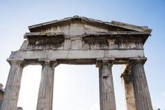 Tempel i Roman Agora i Aten, Grekland Royaltyfria Foton