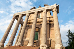 Tempel i Roman Forum Royaltyfria Foton
