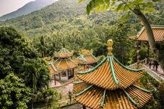 Tempel i skogen arkivfoton