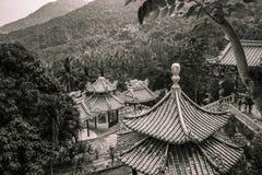 Tempel i skogen arkivbild