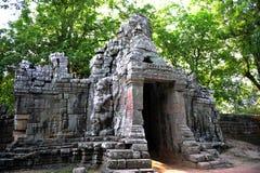 Tempel i skogen, Angkor Wat Cambodia Royaltyfria Foton