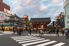 Tempel i TOKYO, Japan för redaktörs- bruk endast Arkivfoto