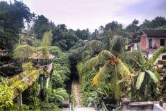 Tempel i Ubud på den Bali ön royaltyfri foto