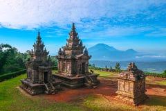 Tempel II van Gedongsongo stock fotografie