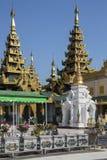 Shwedagon Pagodakomplex - Yangon - Myanmar Arkivfoto