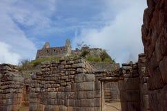 Tempel inom Machu Picchu Arkivfoton