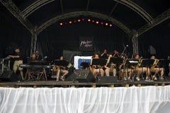 Tempel-Jazz-Orchester in Montreux Lizenzfreie Stockfotografie