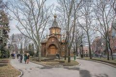 Tempel-kapellet av den suveräna symbolen av modern av guden Arkivbilder