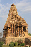Tempel in Khajuraho Stockbild