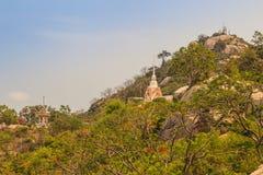 Tempel Khao Takiab (Essstäbchen-Hügel) oder Affe-Berg, wie er ist Stockbild