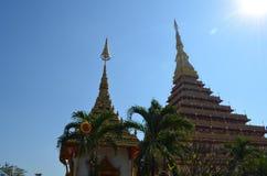 Tempel Khon Kaen thailand Fotografering för Bildbyråer