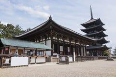 Tempel Kofuku -kofuku-ji in Nara, Japan stock foto