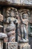 Tempel Konark Sun in Odisha, Indien Alte Ruinenstatue von Tempel Konark Sun lizenzfreies stockbild