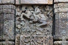 Tempel Konark Sun in Odisha, Indien Alte Ruinenstatue von Tempel Konark Sun lizenzfreie stockfotografie