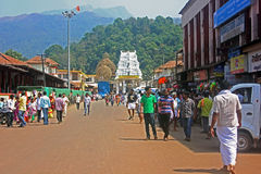 Tempel Kukke Subramanya bei Subramanya, Karnataka, Indien Stockfotografie