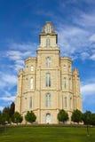 Tempel LDS Manti Royalty-vrije Stock Afbeeldingen