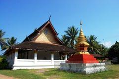 Tempel in Luang Prabang Stadt bei Loas Lizenzfreies Stockbild