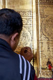 Tempel Mandalay, Myanmar Mahamuni Buddha Stockfotografie