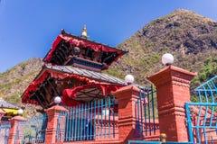 Tempel Mandir, Nepal Supa Deurali Stockbild