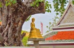 Tempel Marksteinbangkoks Thailand boudha stockfoto
