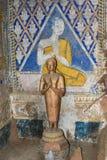 Tempel med antik målning om lag av karma efter året 1928 Royaltyfri Fotografi