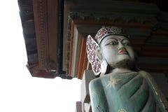 tempel med statyn Stock Illustrationer
