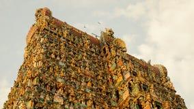 Tempel Meenakshi Amman in Madurai, Indien stockbild