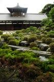 Tempel met Japanse tuin Stock Foto