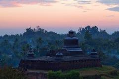 Tempel in Mrauk-de Archeologische Streek van U, Myanmar Royalty-vrije Stock Afbeelding