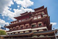 Tempel & museum för Buddhatandrelik arkivbilder