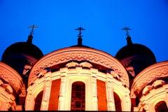 Tempel nachts Lizenzfreie Stockfotografie