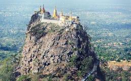 Tempel nahe Mt Popa Stockfoto