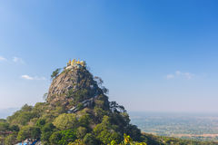 Tempel nahe Mt Popa Lizenzfreie Stockfotografie
