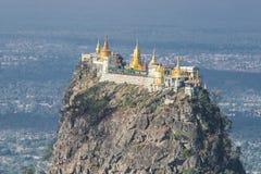 Tempel nahe Mt Popa Stockbild