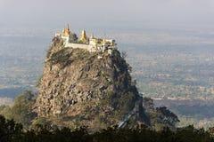 Tempel nahe Mt Popa Lizenzfreies Stockbild