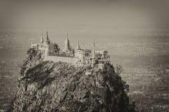 Tempel nahe Mt Popa Lizenzfreies Stockfoto