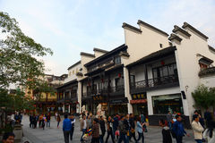 Tempel Nanjings Konfuzius, China Lizenzfreies Stockfoto