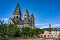 Tempel Neuf på Metz arkivbilder