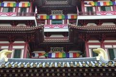Tempel och museum för Buddhatandrelik i Singapore royaltyfri bild