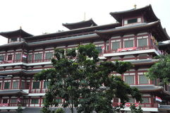 Tempel och museum för Buddhatandrelik i Singapore arkivfoton