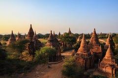 Tempel och stupas, Bagan, Myanmar. Arkivfoto