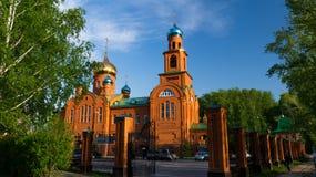Tempel omwille van de Heilige Heilige Serafima Sarovsky Stock Afbeeldingen