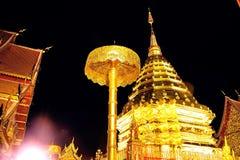 Tempel op de berg van Khao Takeab in Thailand Royalty-vrije Stock Afbeelding