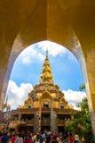 Tempel op de berg van Khao Takeab in Thailand Stock Foto's