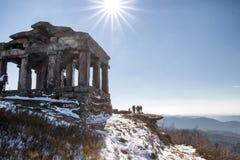 Tempel op Donon-berg Royalty-vrije Stock Afbeeldingen