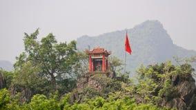 Tempel op helling, Vietnam stock fotografie
