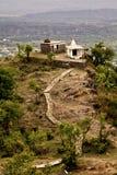 Tempel op heuvelbovenkant Stock Afbeeldingen