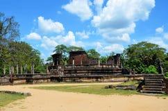 Tempel in Oude stad in Polonnaruwa, Srí Lanka Royalty-vrije Stock Foto's