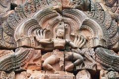 Tempel på den Cambodja kanten. arkivfoton