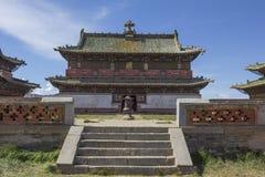 Tempel på den Erdene Zuu kloster Arkivfoto
